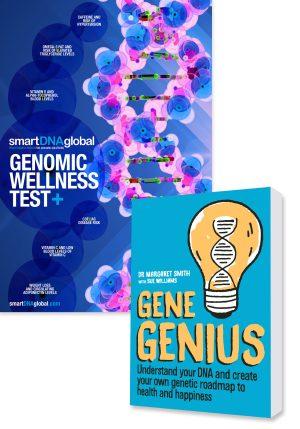 Genomic Wellness Plus Test + Gene Genius Book
